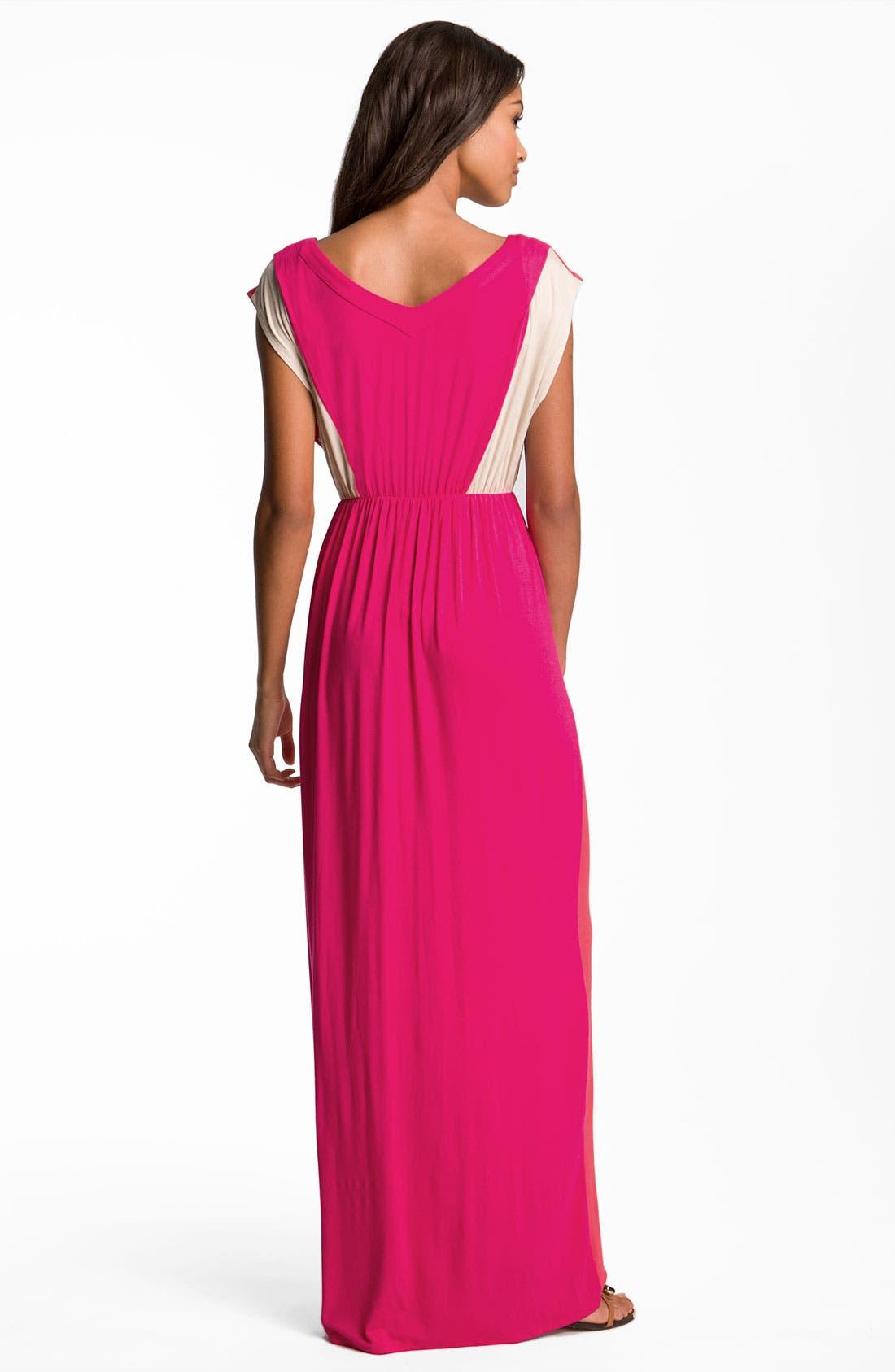 Alternate Image 2  - Felicity & Coco Contrast Trim Colorblock Jersey Maxi Dress (Nordstrom Exclusive)