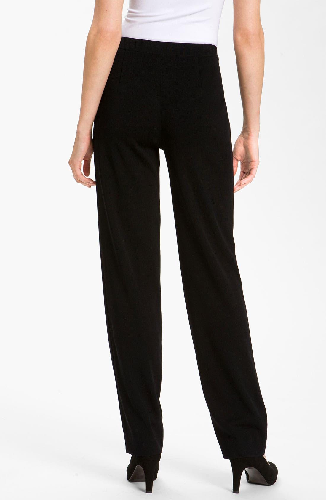 Alternate Image 2  - Misook Slim Knit Pants (Regular & Petite) (Online Only)