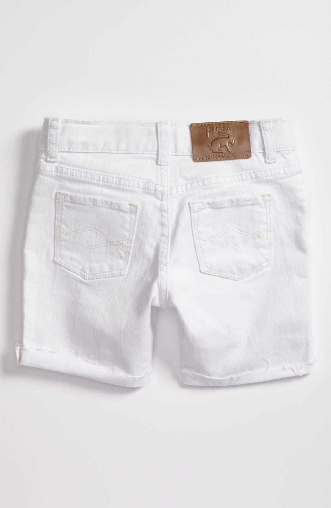 Main Image - Peek 'Griffin' Cuff Denim Shorts (Toddler, Little Girls & Big Girls)