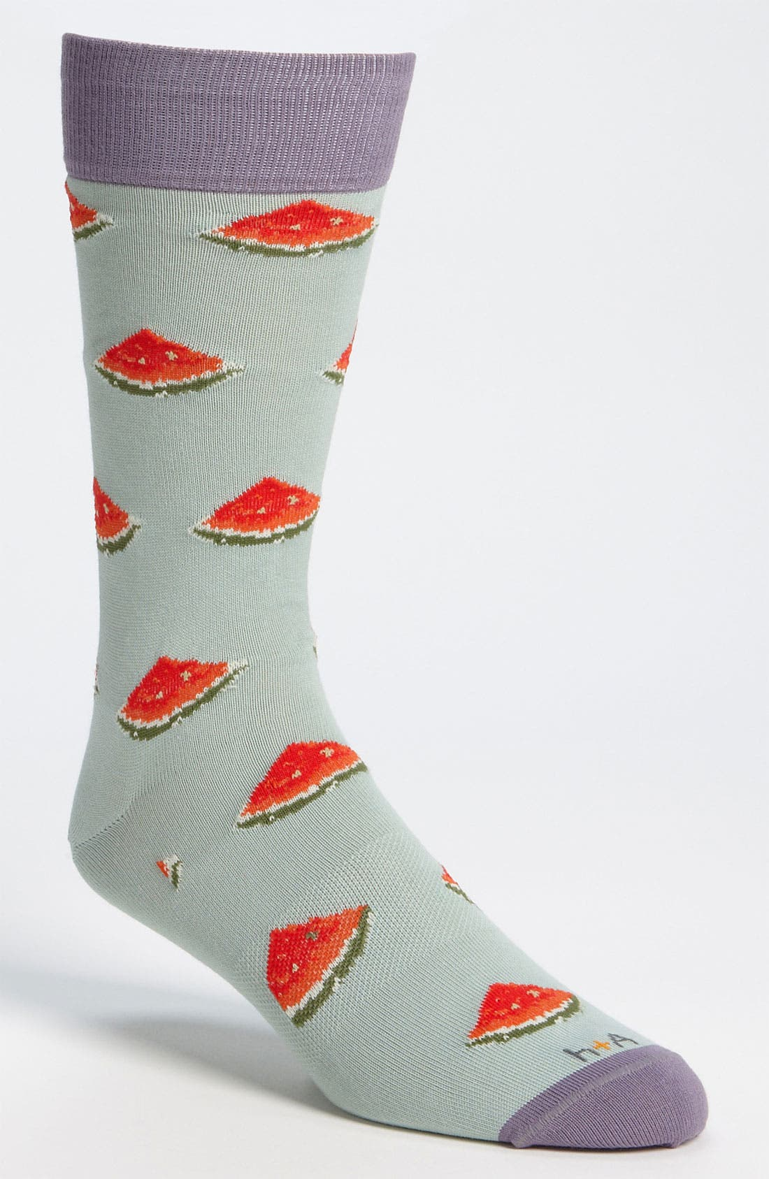 Alternate Image 1 Selected - hook + ALBERT Watermelon Socks (Online Exclusive)