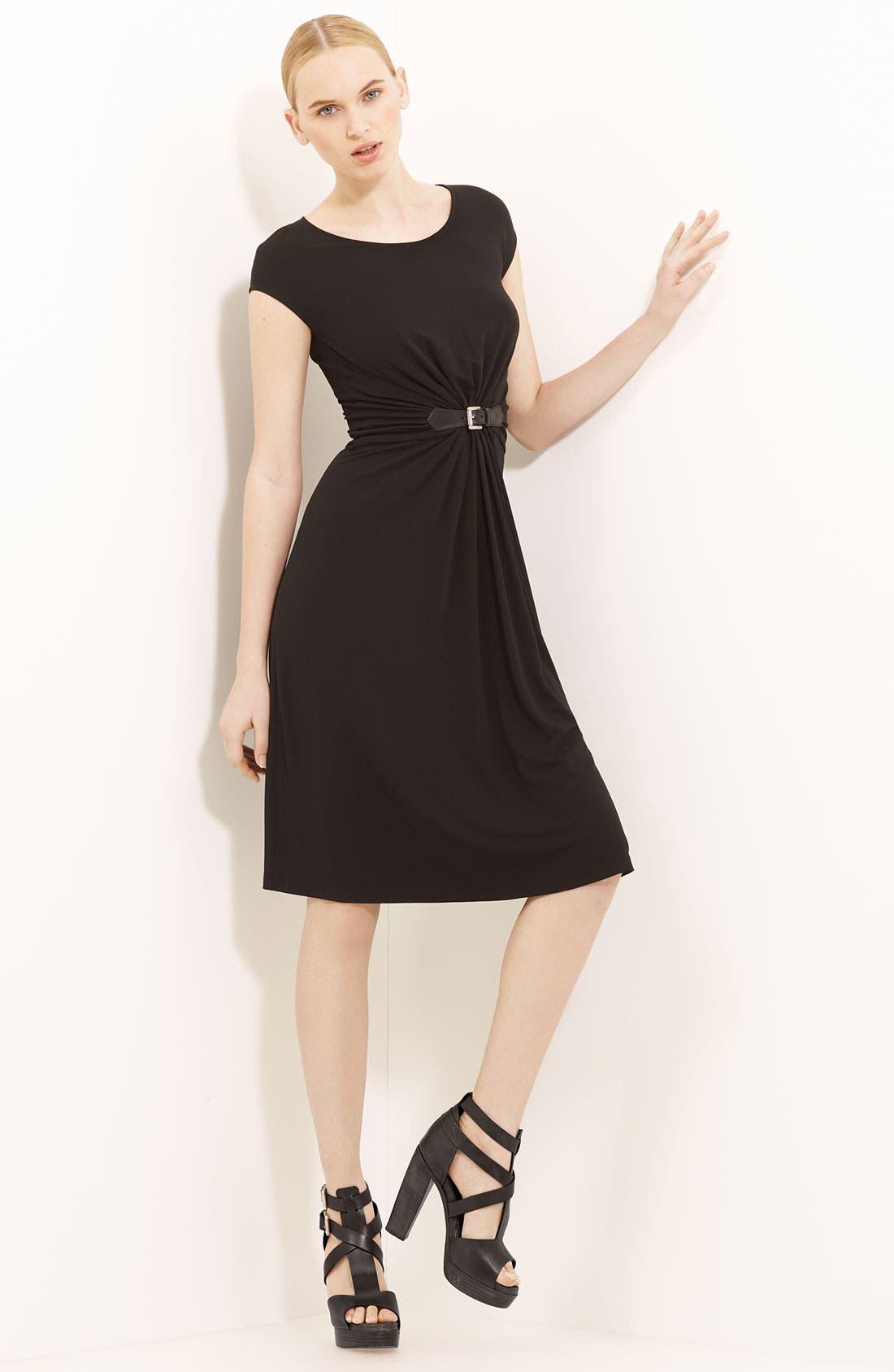 Main Image - Michael Kors Gather Front Matte Jersey Dress