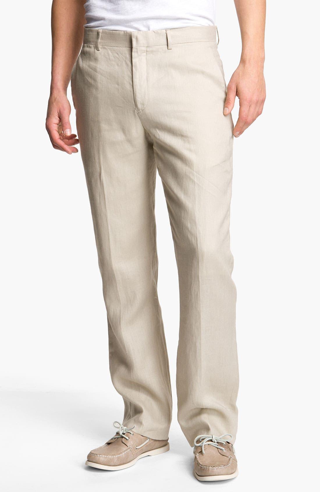 Alternate Image 1 Selected - Michael Kors 'Classic' Linen Pants