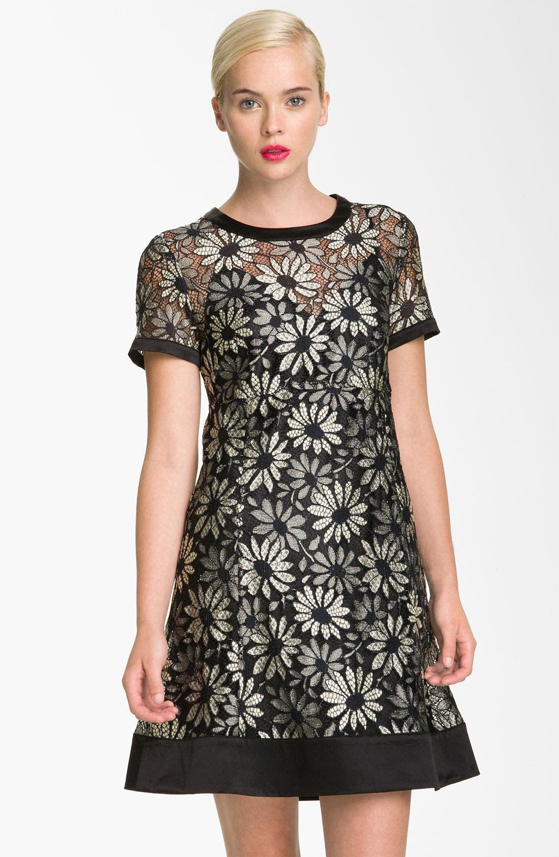 Alternate Image 1 Selected - MARC BY MARC JACOBS 'Lily' Metallic Lace Dress