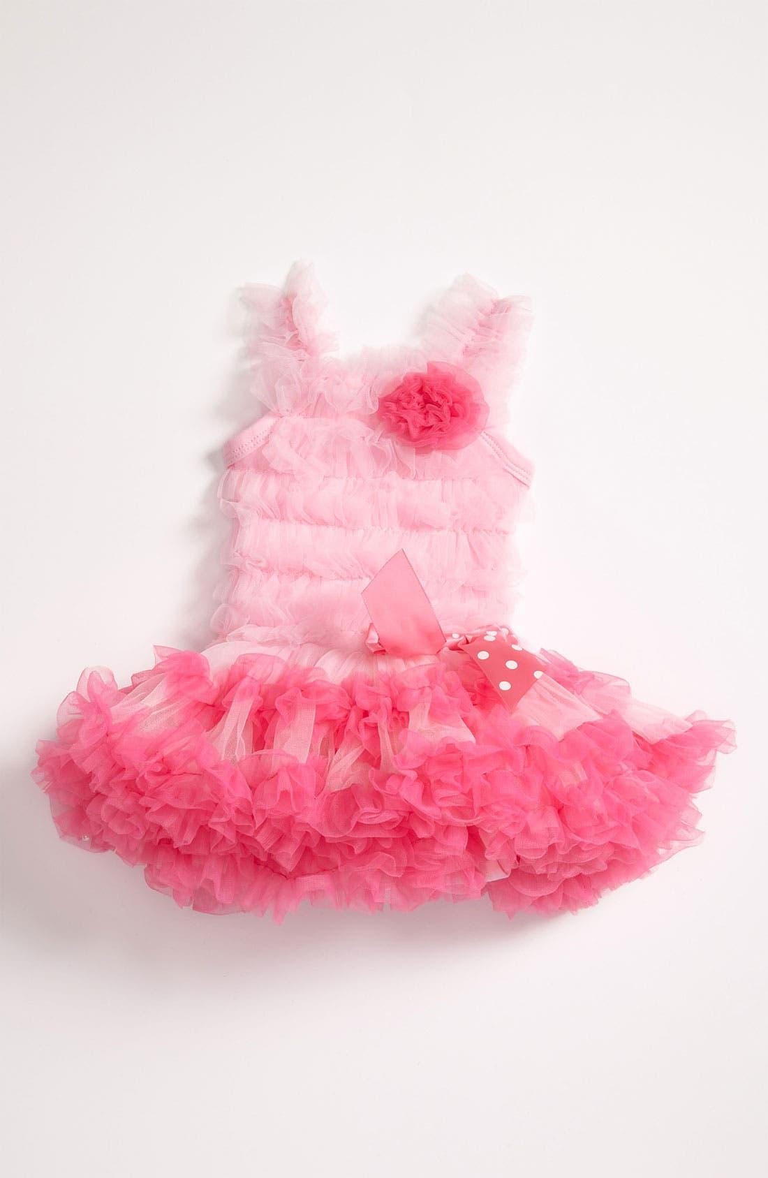 Ruffle Petticoat Dress,                         Main,                         color, Pink