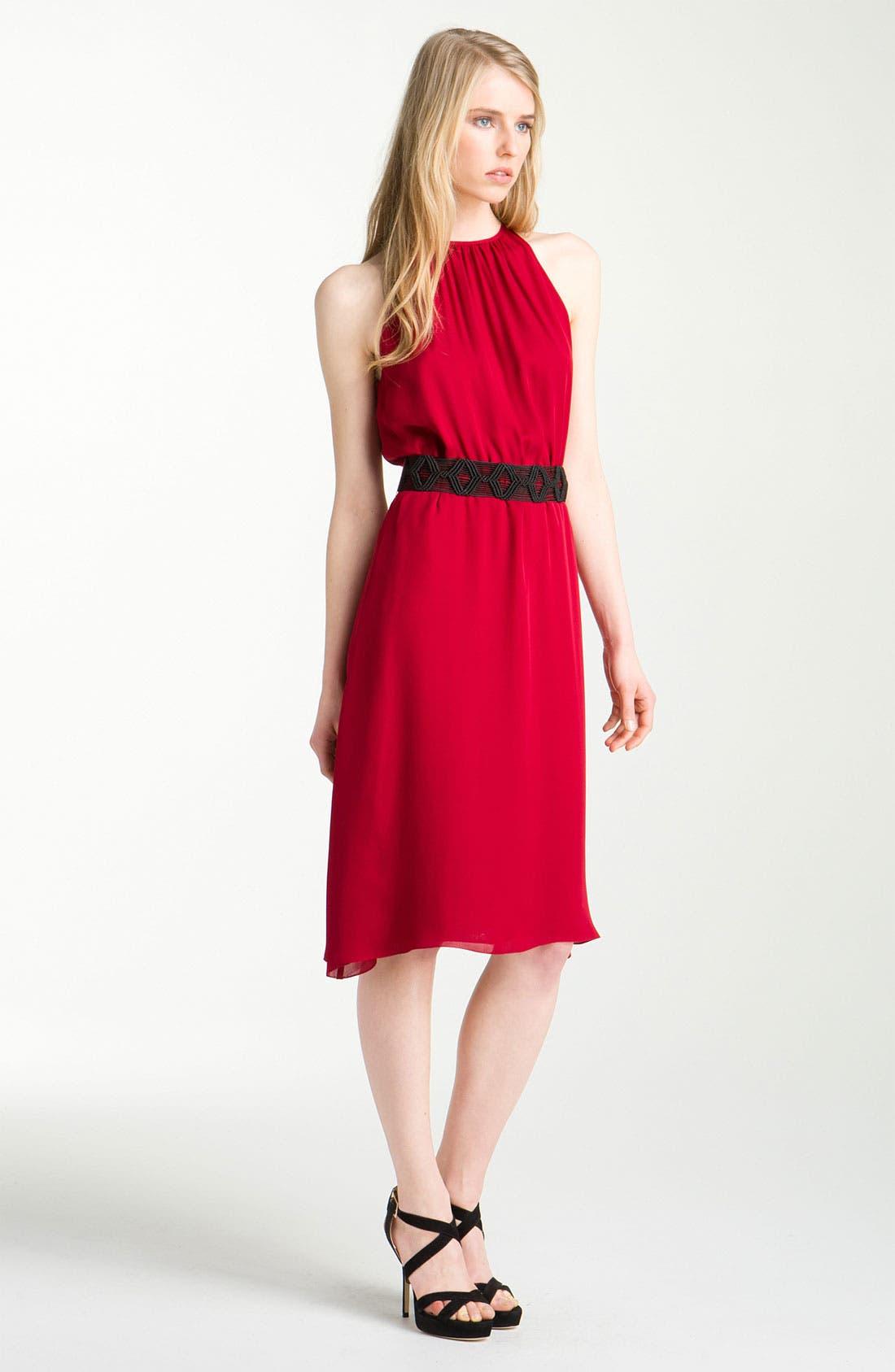 Main Image - L'AGENCE Shirred Dress