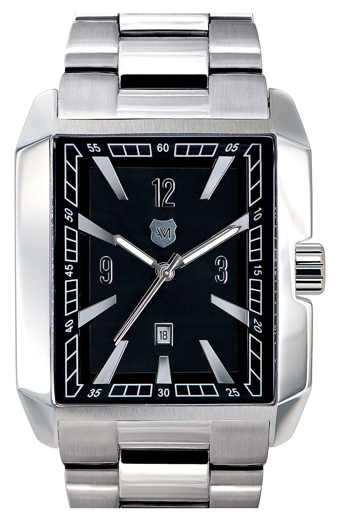 Alternate Image 1 Selected - Andrew Marc Watches 'Club Hipster' Rectangular Bracelet Watch