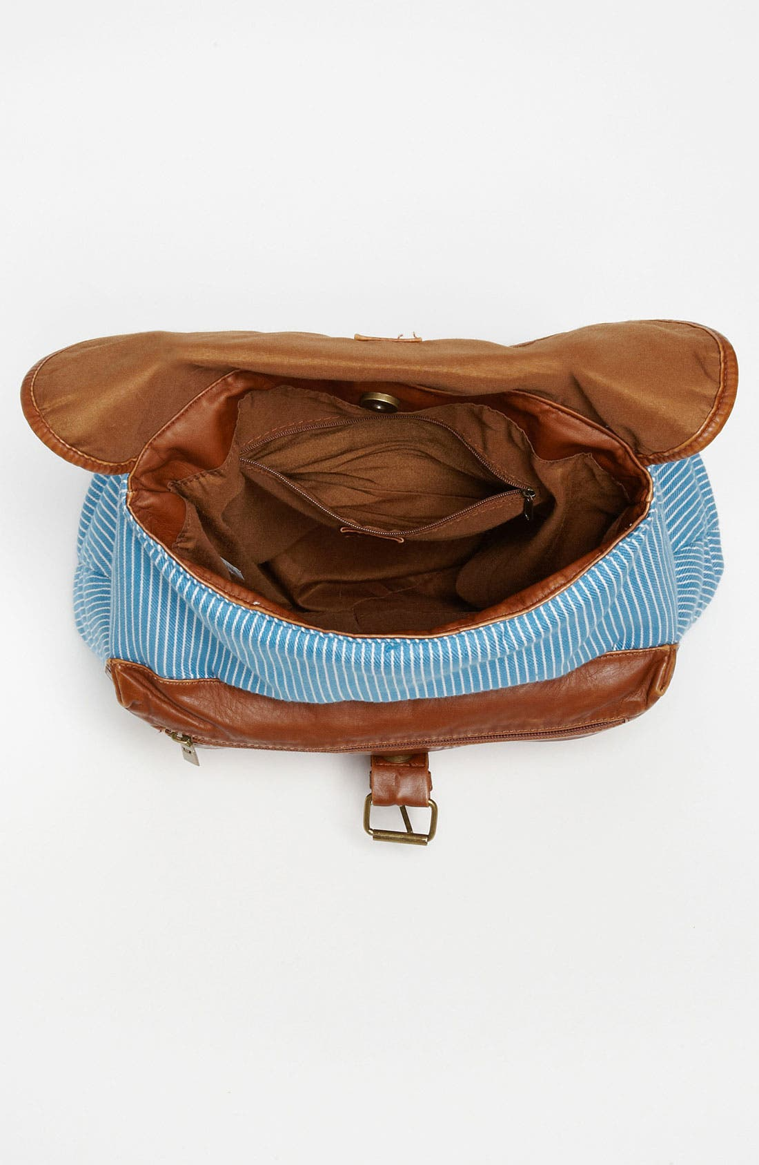 Alternate Image 3  - BP. Stripe Chambray & Faux Leather Backpack