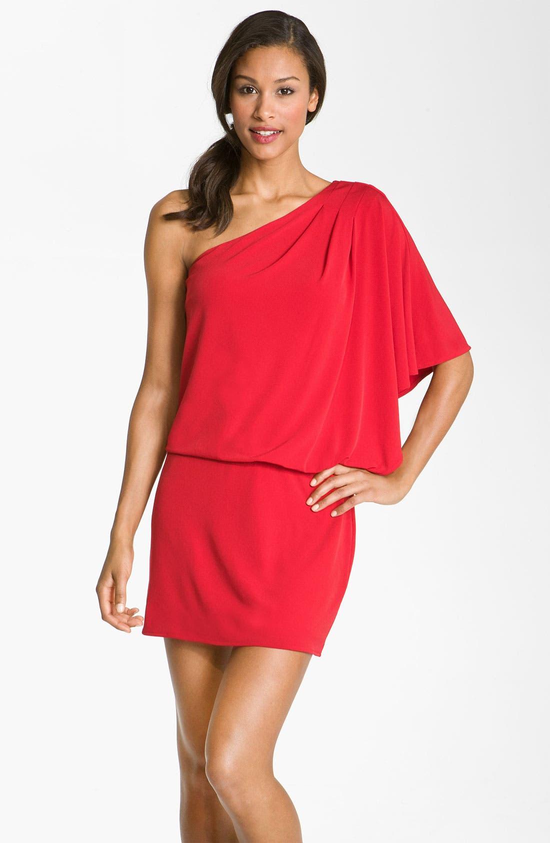 Main Image - JS Boutique One Shoulder Jersey Dress