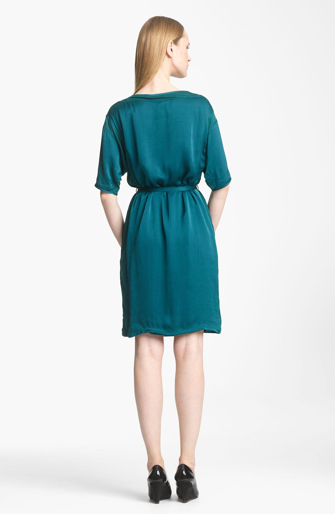 Alternate Image 2  - Lanvin Belted Washed Satin Dress