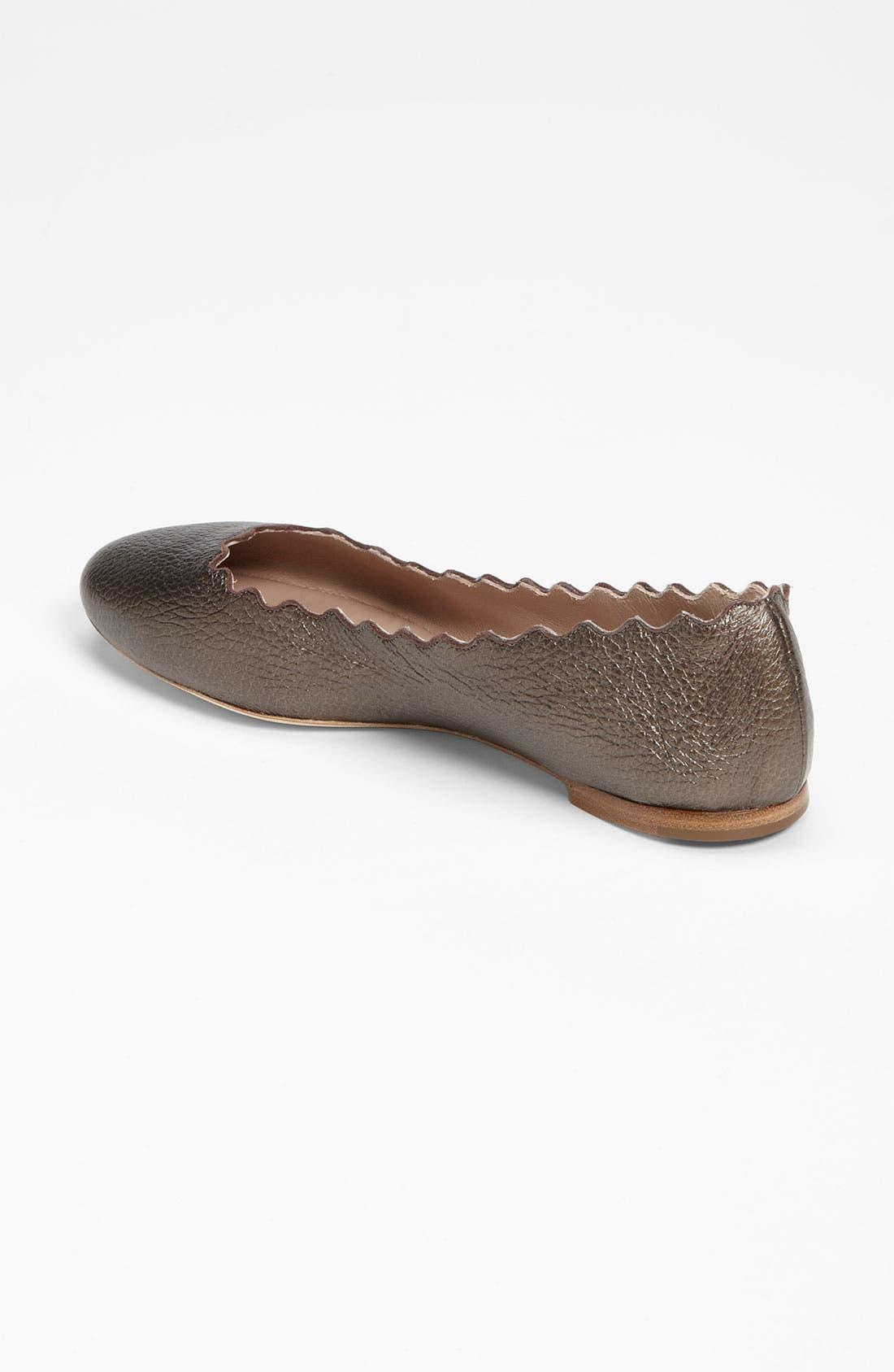 Alternate Image 2  - Chloé Scalloped Ballet Flat