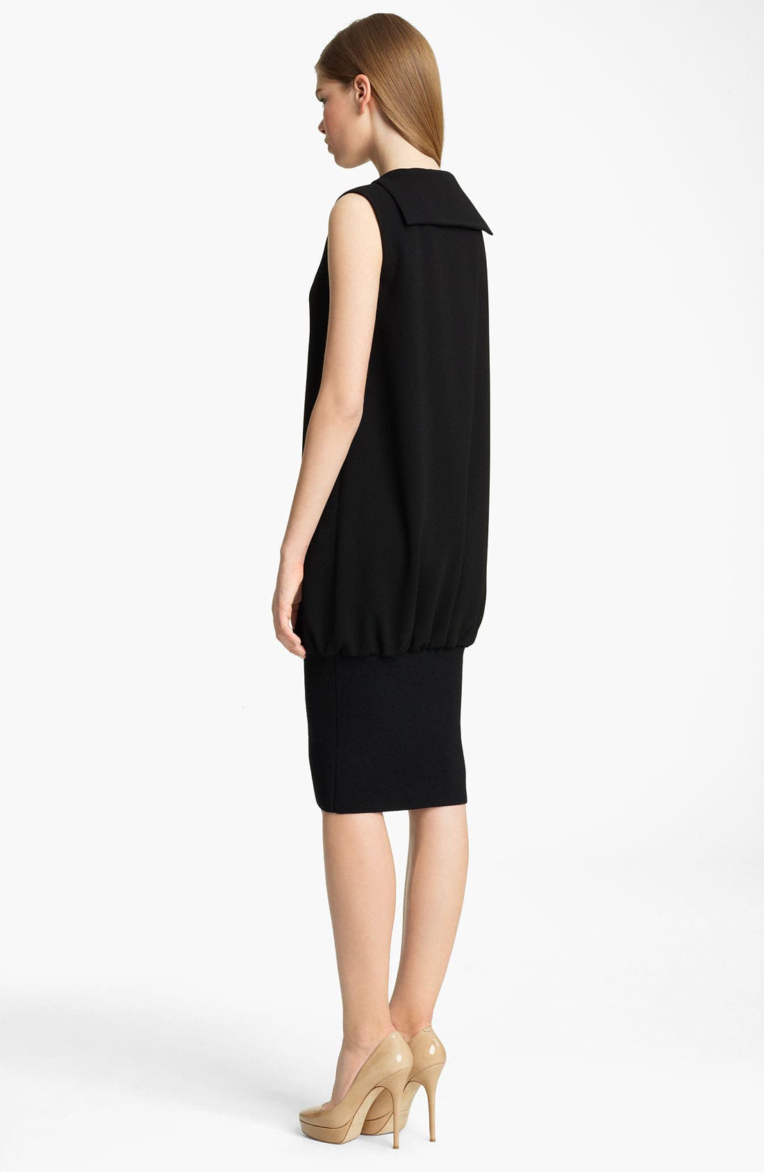 Alternate Image 2  - Jil Sander Ribbed Hem Crepe Dress