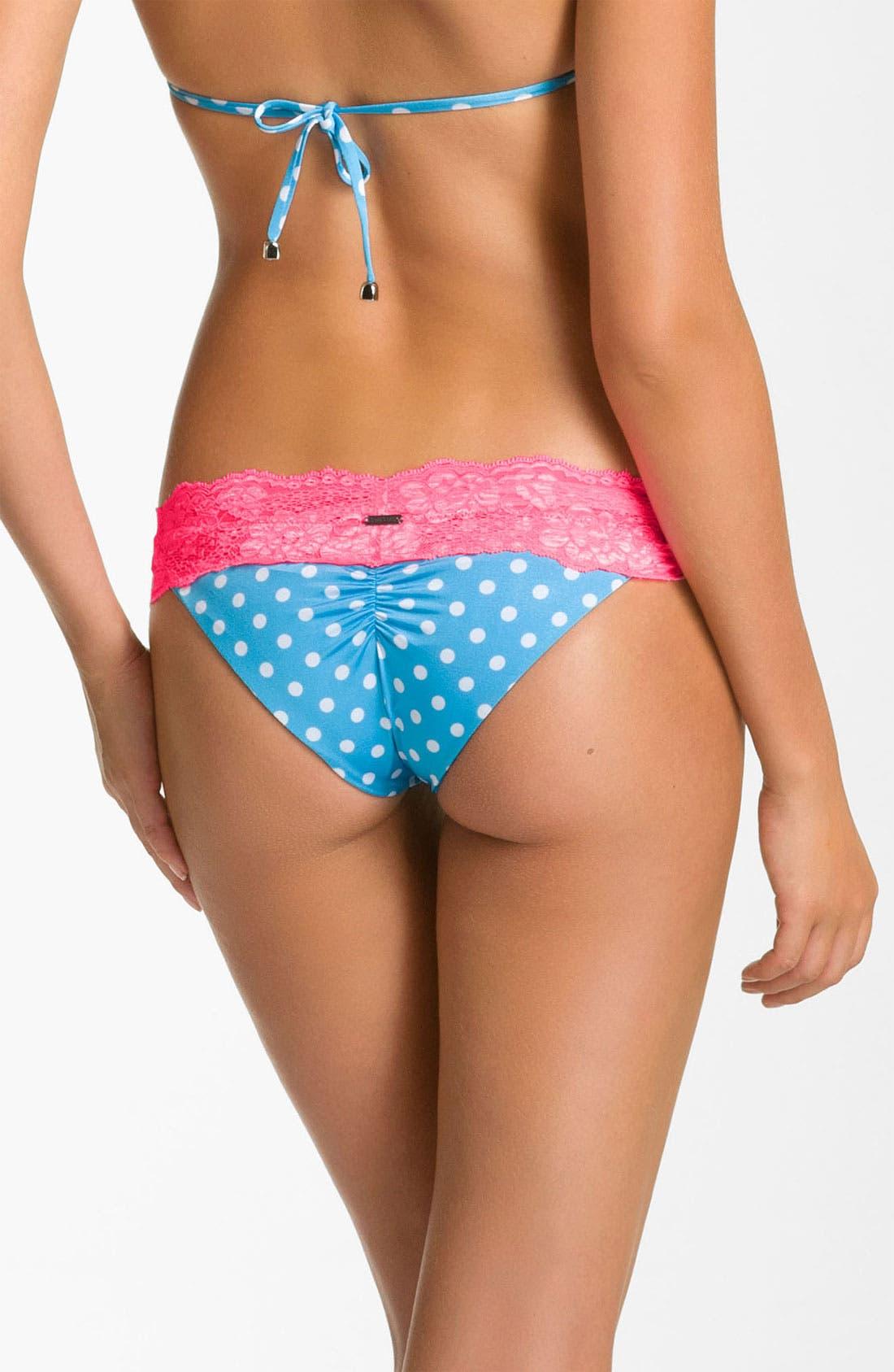 Alternate Image 2  - Beach Bunny Lace Trim Bikini Bottom