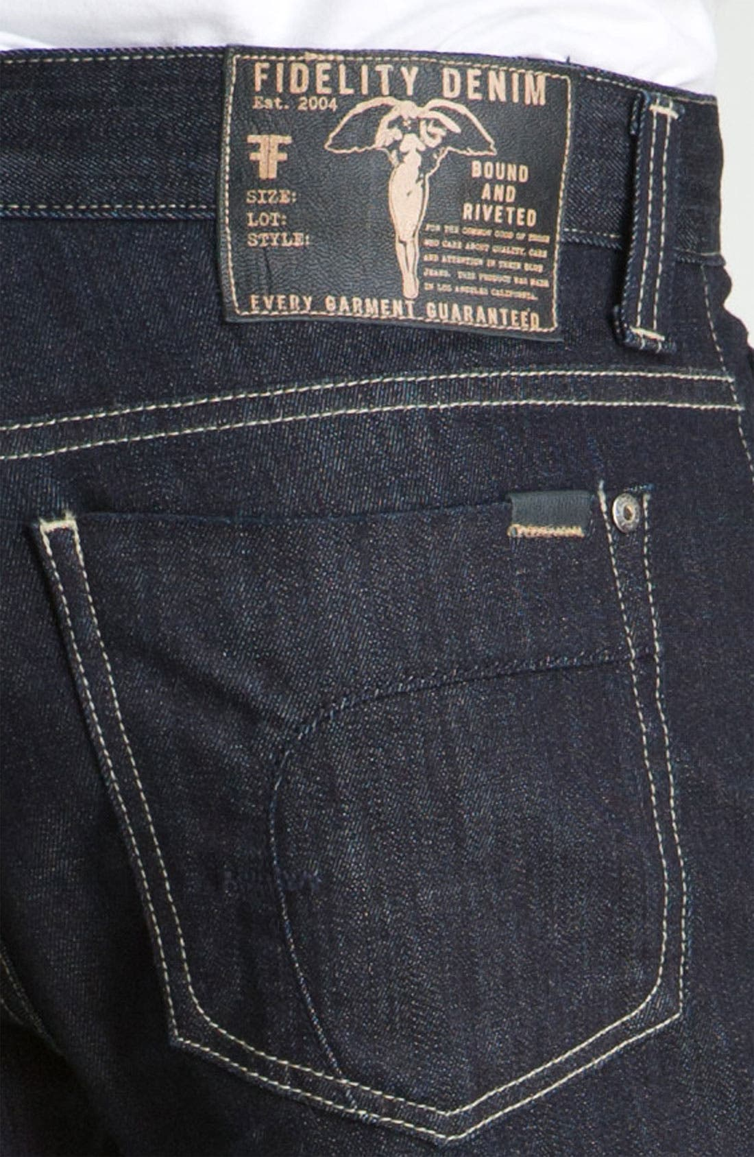 Alternate Image 4  - Fidelity Denim 'Camino' Relaxed Leg Jeans (Pacific Dark)