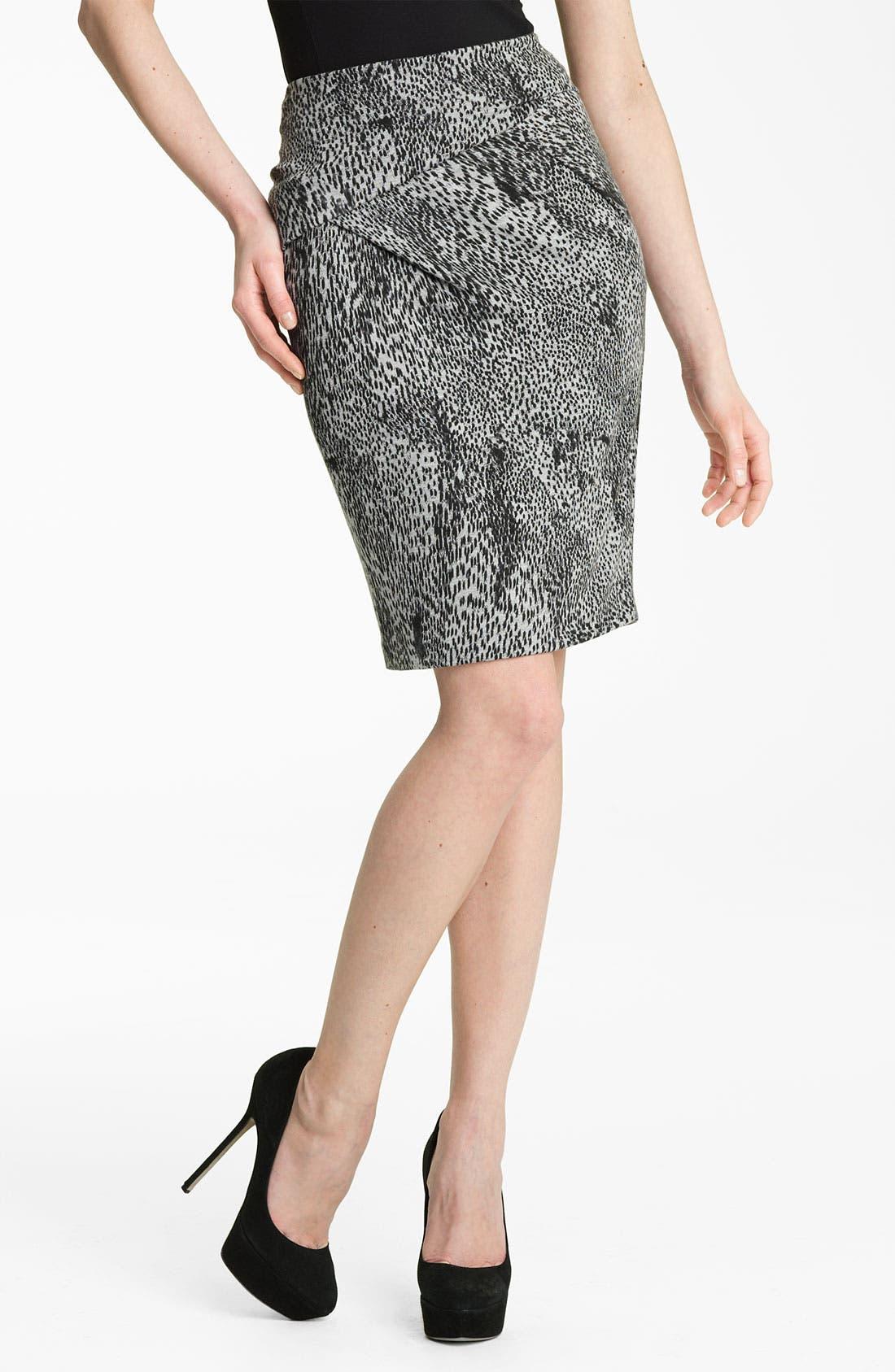 Main Image - Max Mara 'Vertigo' Print Jersey Skirt