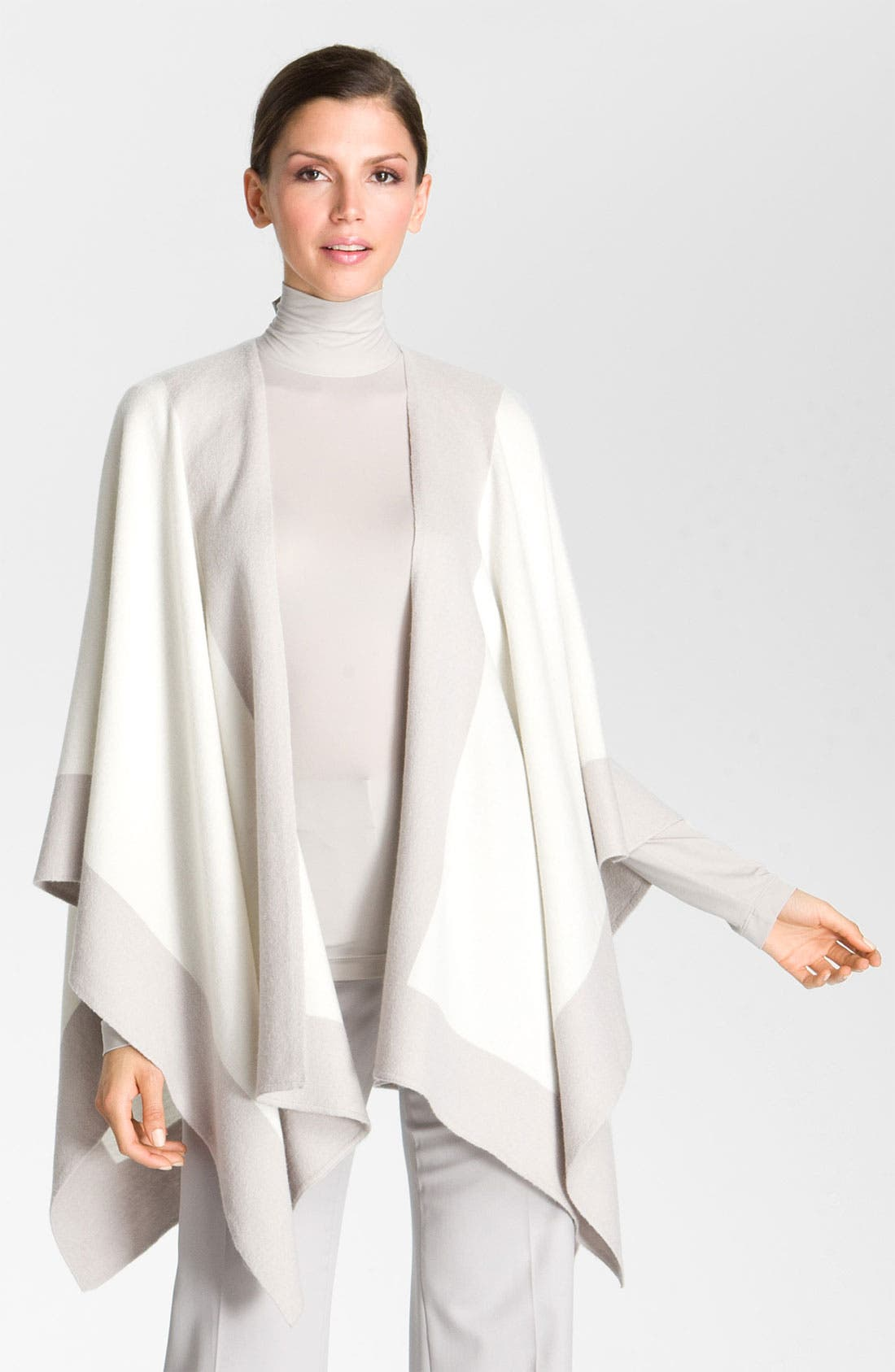 Main Image - St. John Collection Colorblock Felted Wool Wrap