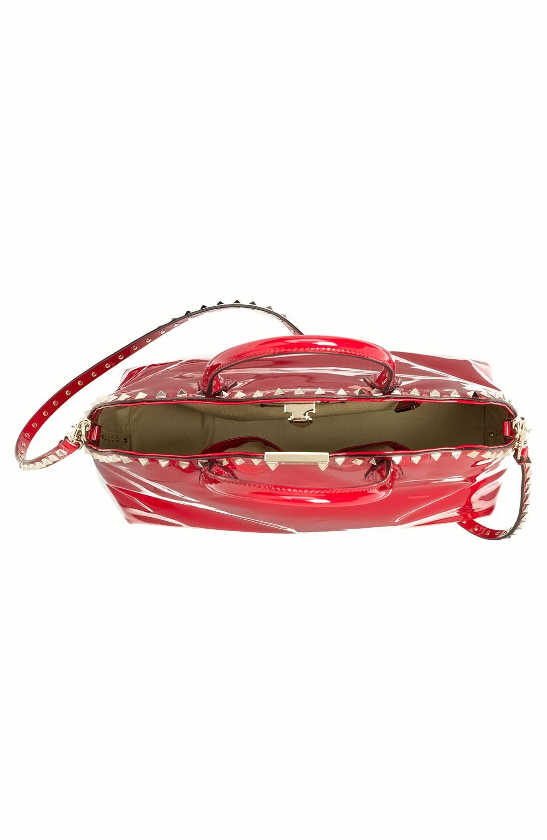 Alternate Image 3  - Valentino 'Rockstud' Patent Leather Dome Handbag