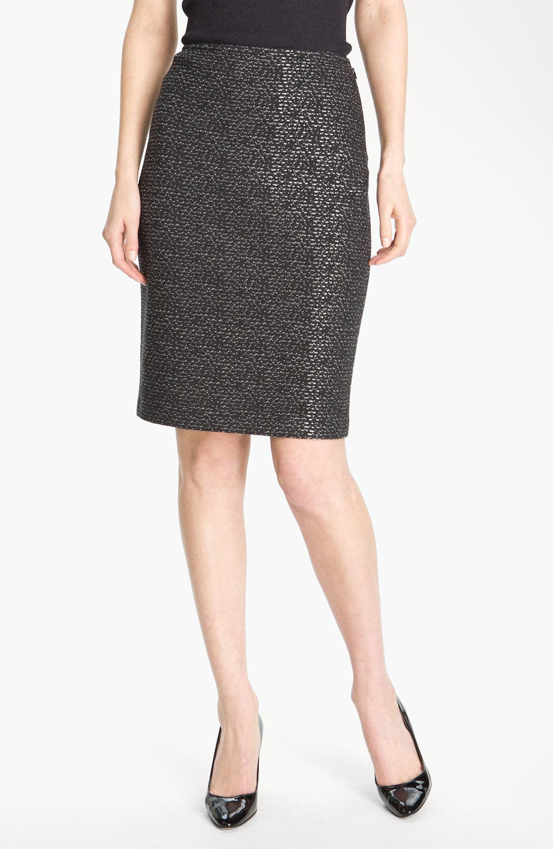 Alternate Image 2  - St. John Collection Pebble Dash Tweed Knit Skirt
