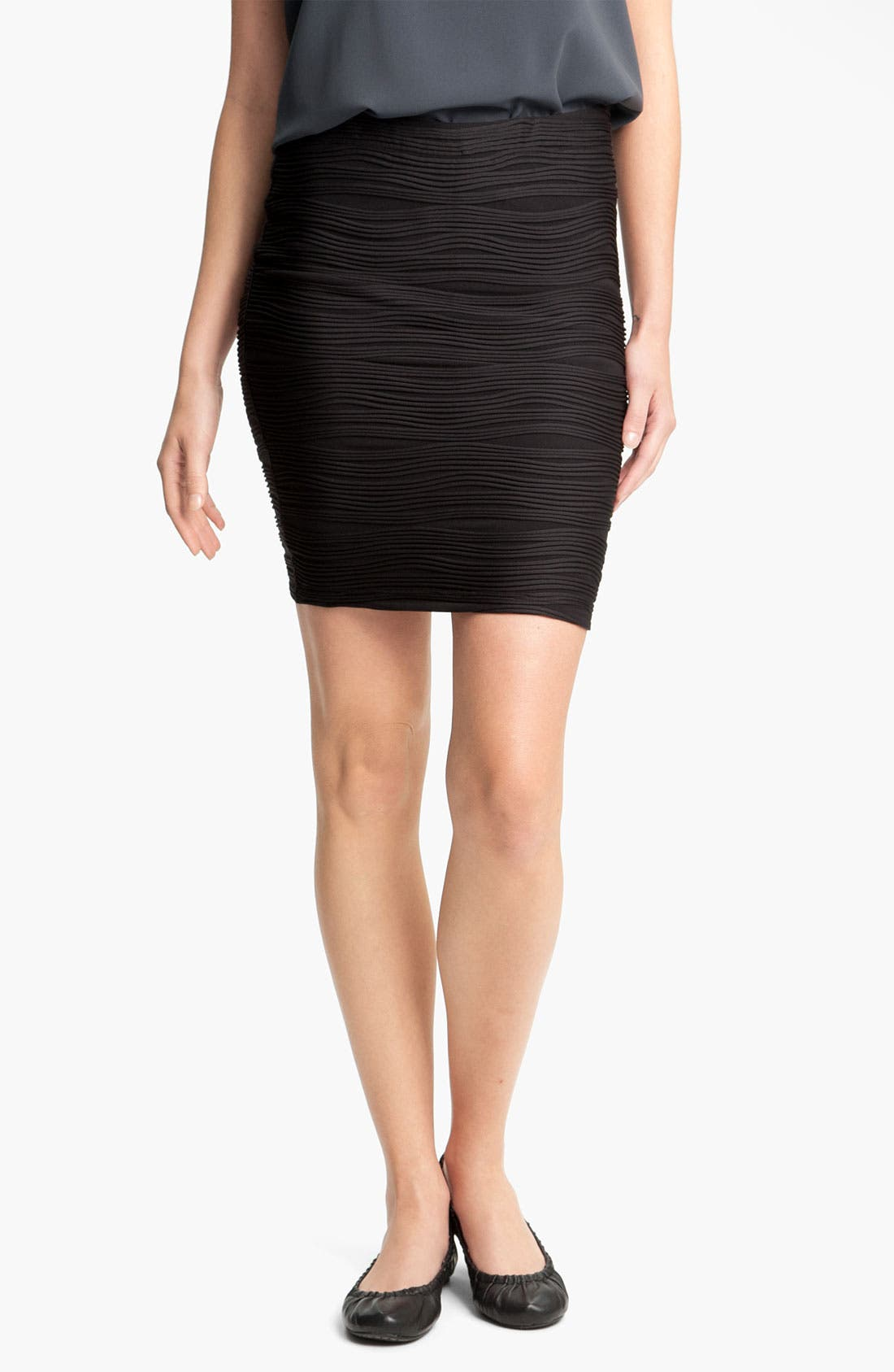 Main Image - Lily White Textured Bandage Skirt (Juniors)