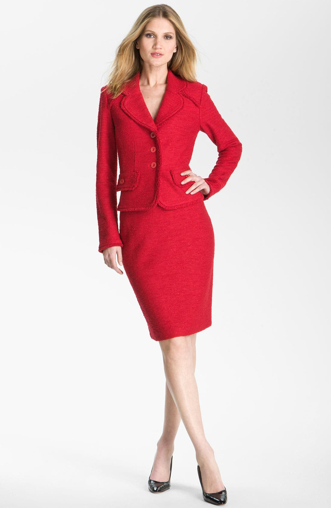 Alternate Image 1 Selected - St. John Collection Frise Knit Pencil Skirt