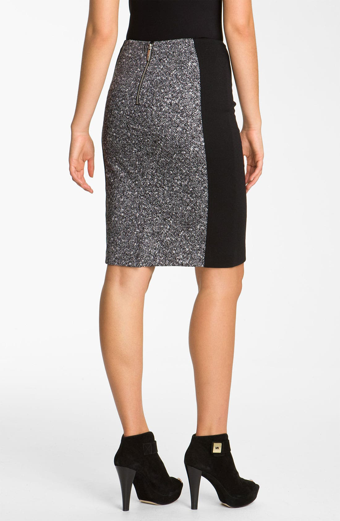 Alternate Image 2  - MICHAEL Michael Kors Print Panel Ponte Skirt
