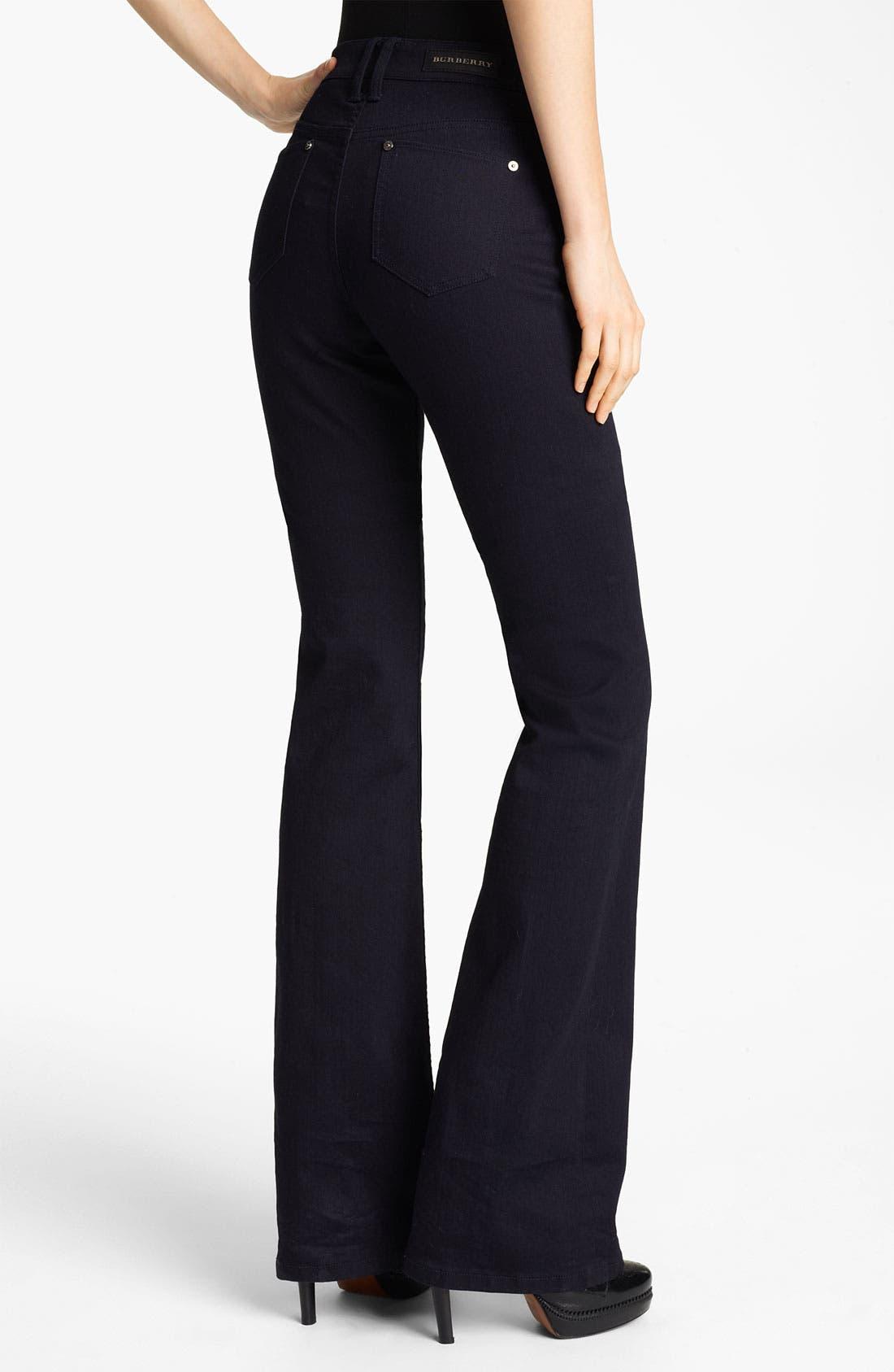 Alternate Image 2  - Burberry London Flare Leg Stretch Jeans