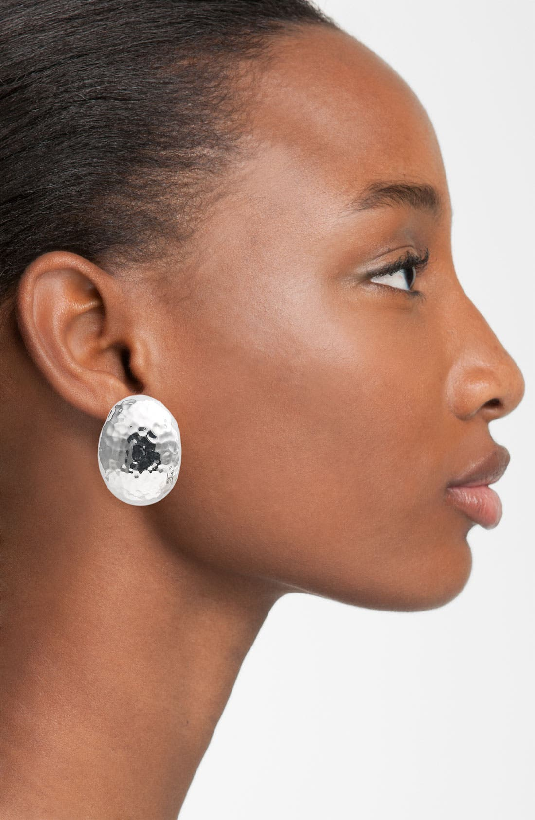 Alternate Image 2  - Simon Sebbag Hammered Oval Clip Earrings