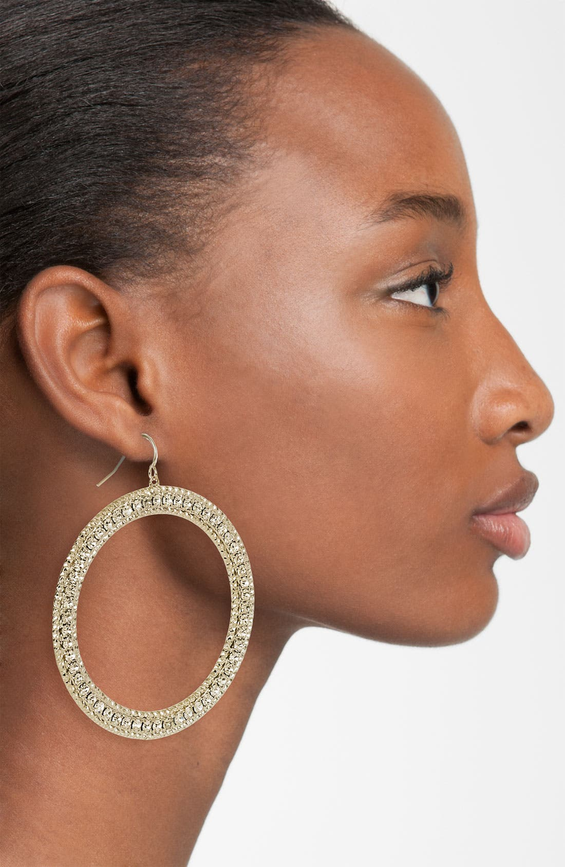 Alternate Image 2  - Natasha Couture Frontal Hoop Earrings
