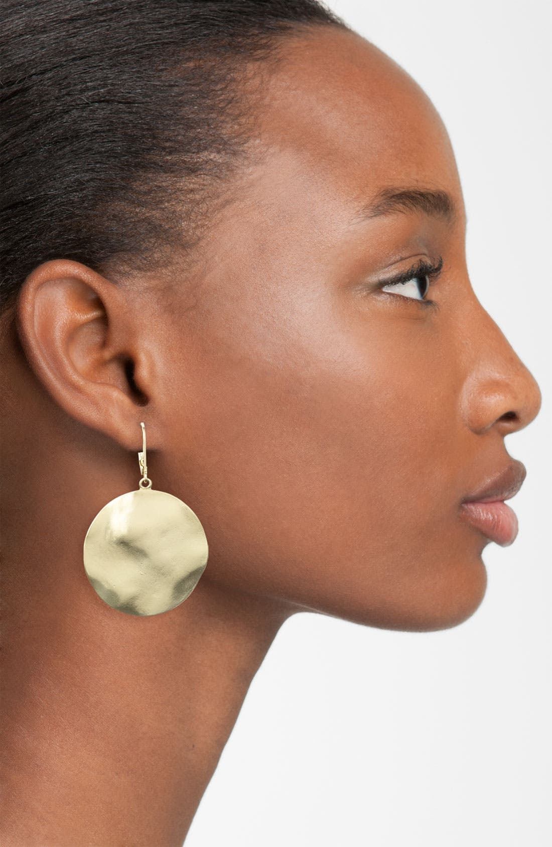 Alternate Image 2  - Nordstrom 'Gold Water' Small Disc Drop Earrings