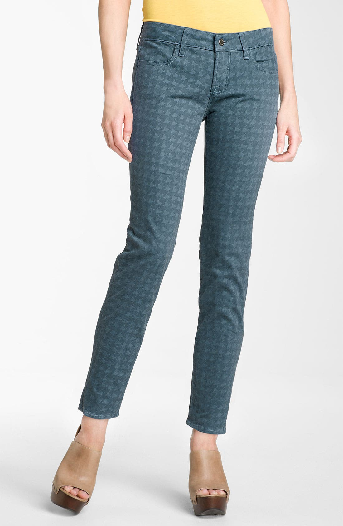 Alternate Image 2  - Blue Essence Houndstooth Twill Jeans (Plus)