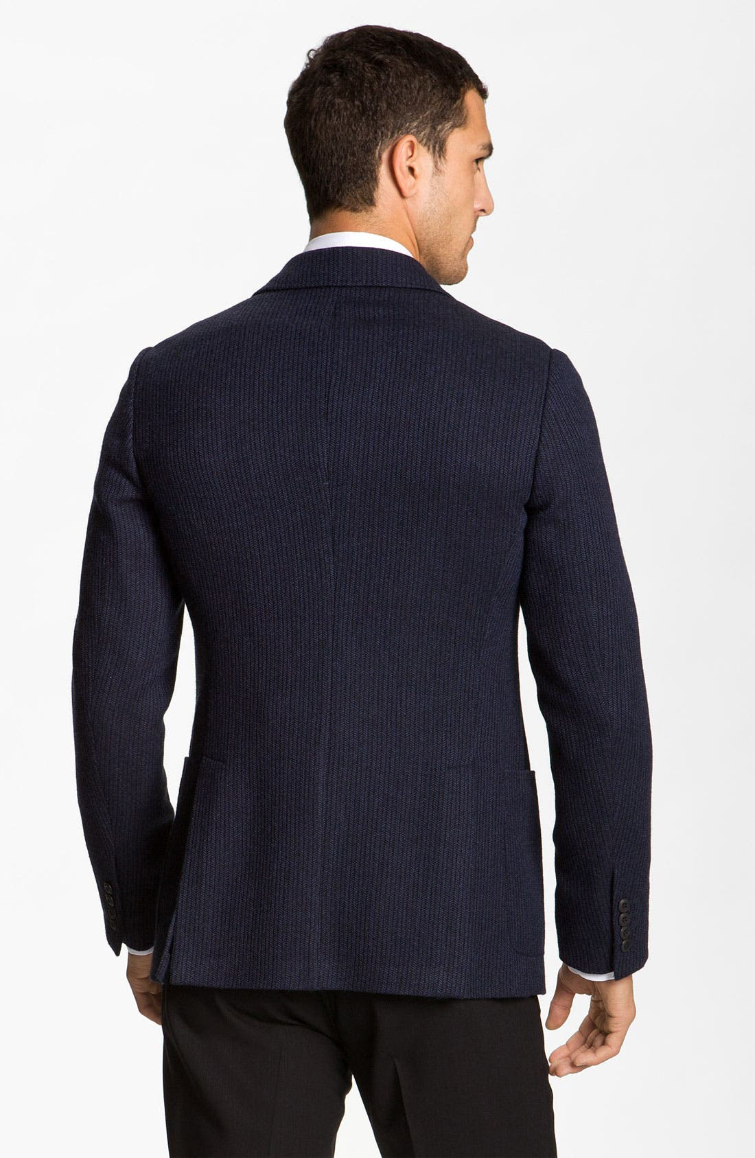 Alternate Image 2  - Armani Collezioni Stripe Blazer