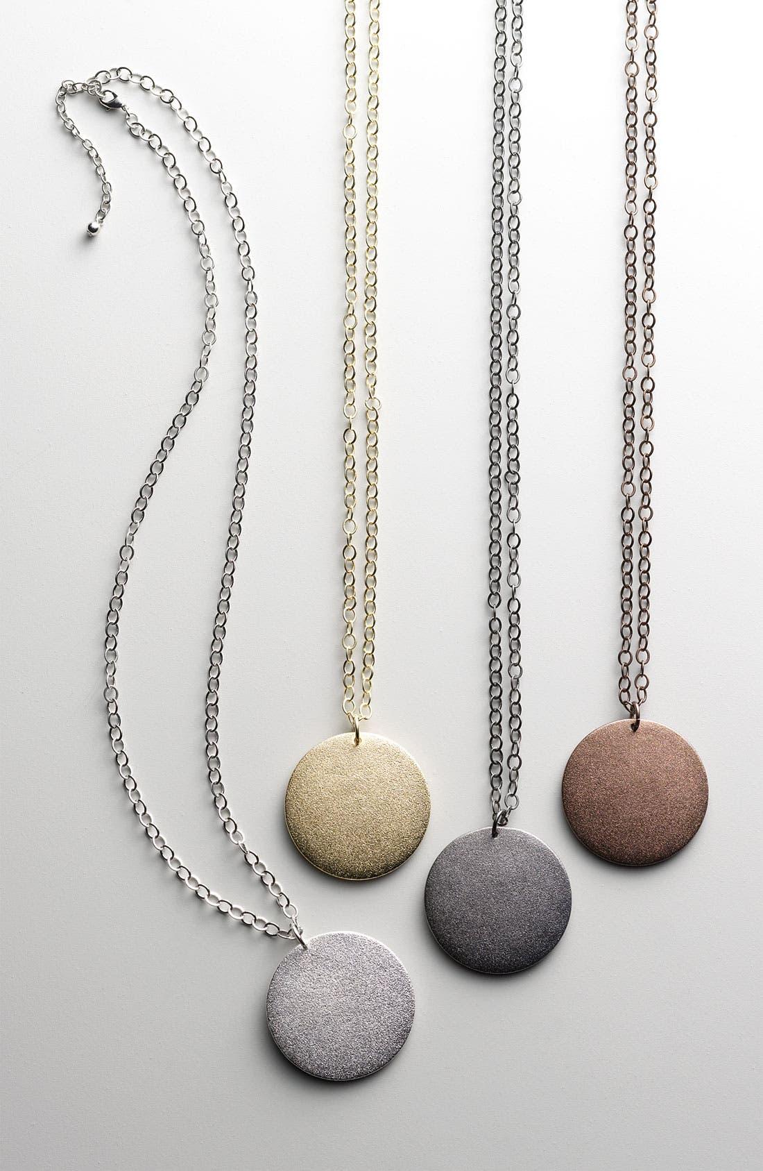 Alternate Image 2  - Nordstrom Textured Disc Pendant Necklace (Nordstrom Exclusive)