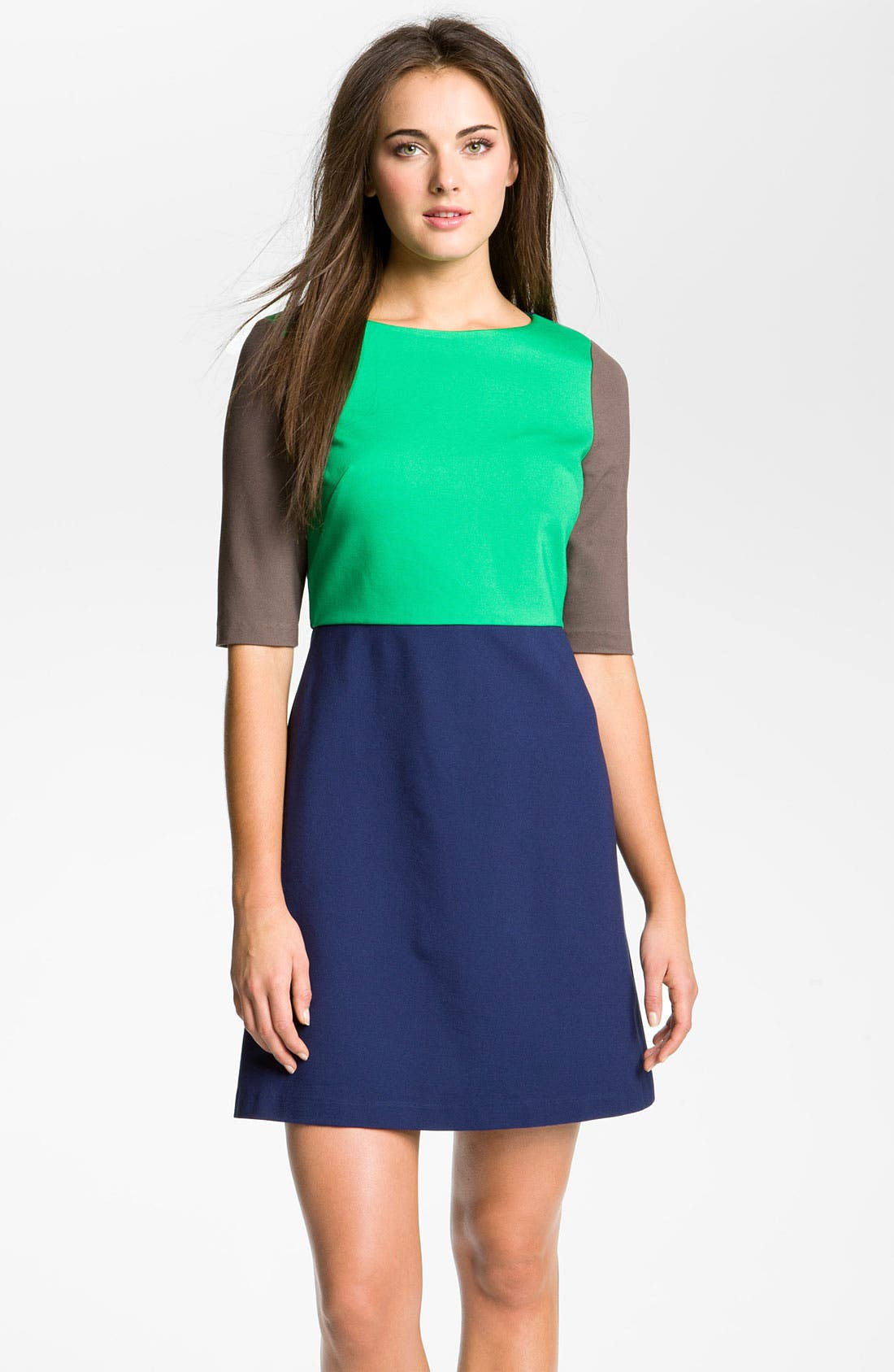 Main Image - Suzi Chin for Maggy Boutique Colorblock Ponte Dress