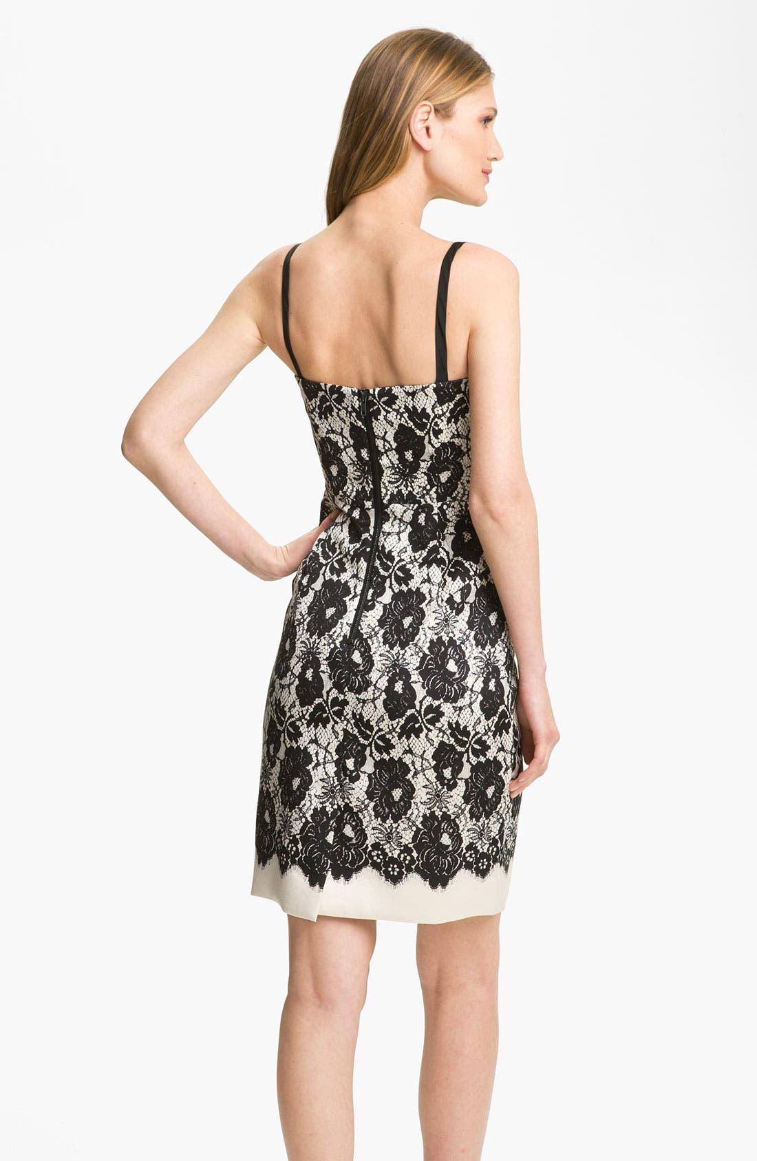 Alternate Image 2  - Milly 'Genevieve' Lace Illusion Dress
