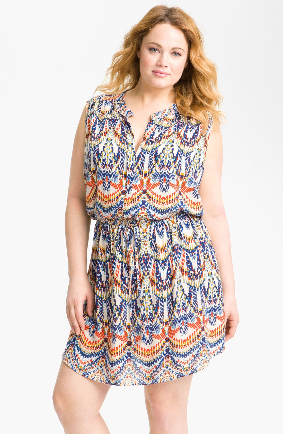 Alternate Image 1 Selected - Eight Sixty Blouson Sleeveless Dress (Plus)