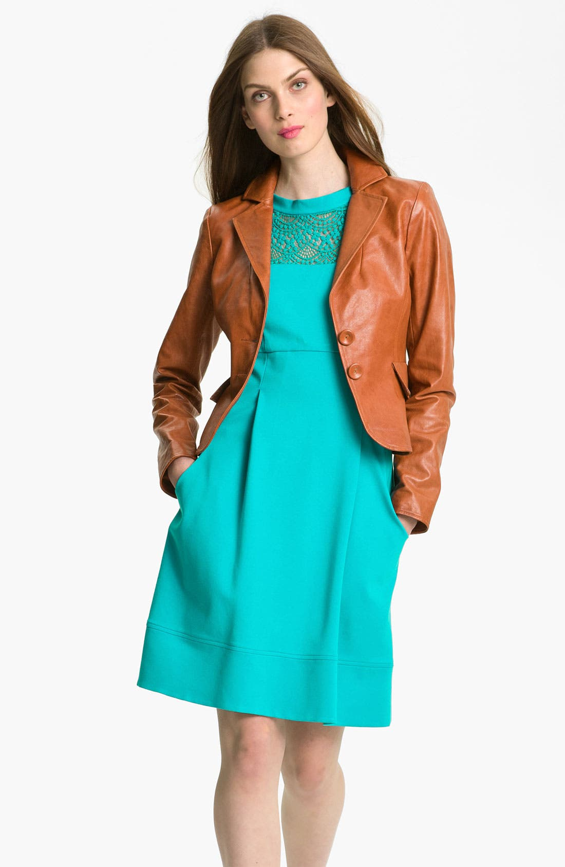 Alternate Image 1 Selected - Nanette Lepore 'Mountain Top' Leather Jacket