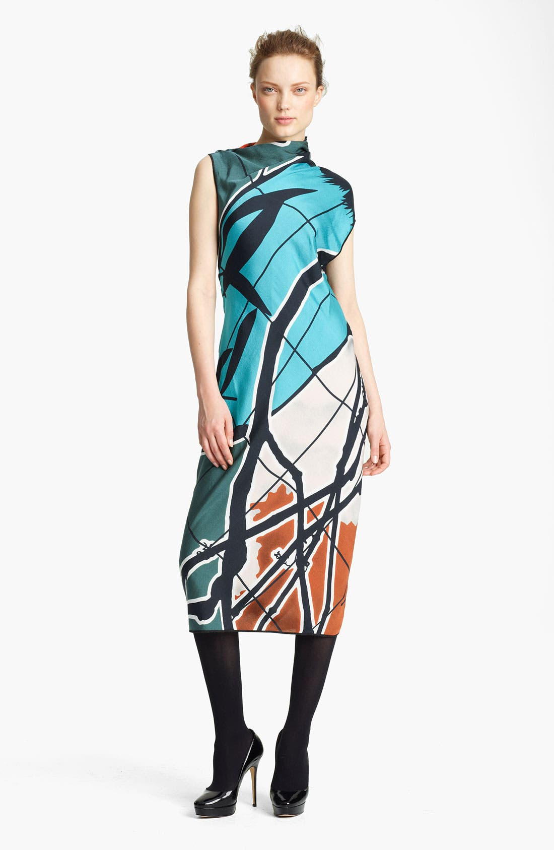 Alternate Image 1 Selected - Missoni Print Mock Neck Woven Dress