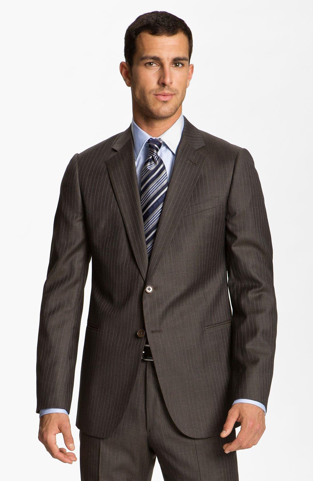 Alternate Image 1 Selected - Armani Collezioni Stripe Wool Suit