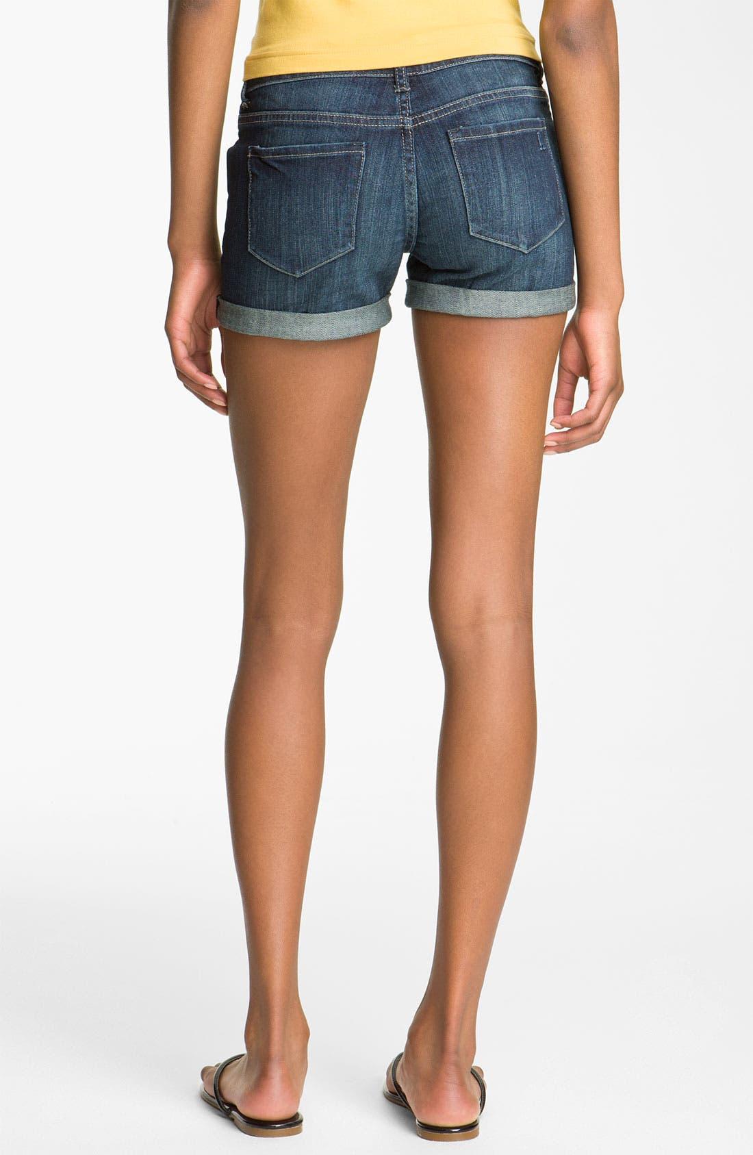Alternate Image 2  - Articles of Society 'Kara' Cuff Denim Shorts (Storm) (Juniors)