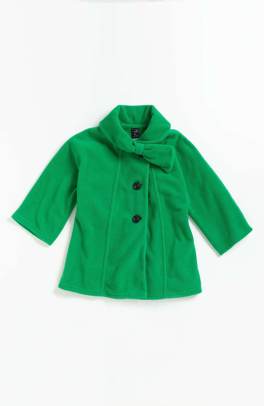 Alternate Image 1 Selected - Mack & Co. 'Jackie' Bow Coat (Little Girls)