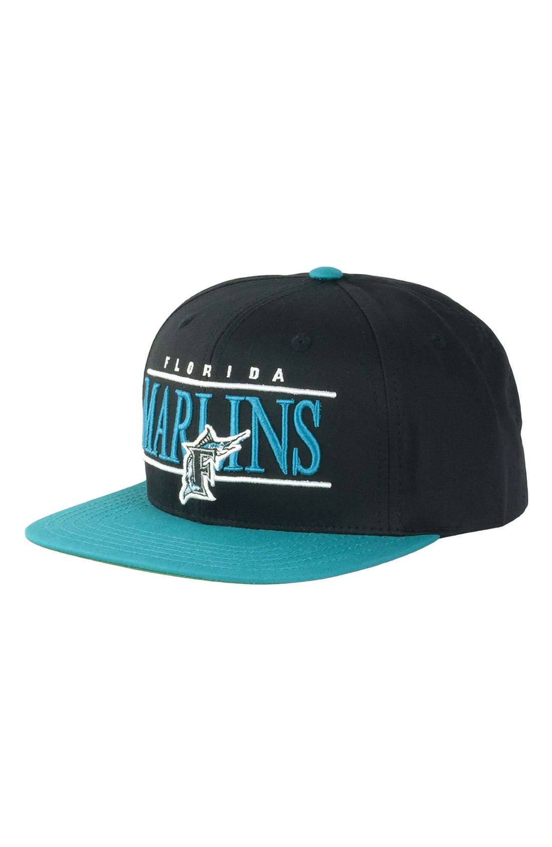 Main Image - American Needle 'Miami Marlins - Nineties' Twill Snapback Baseball Cap