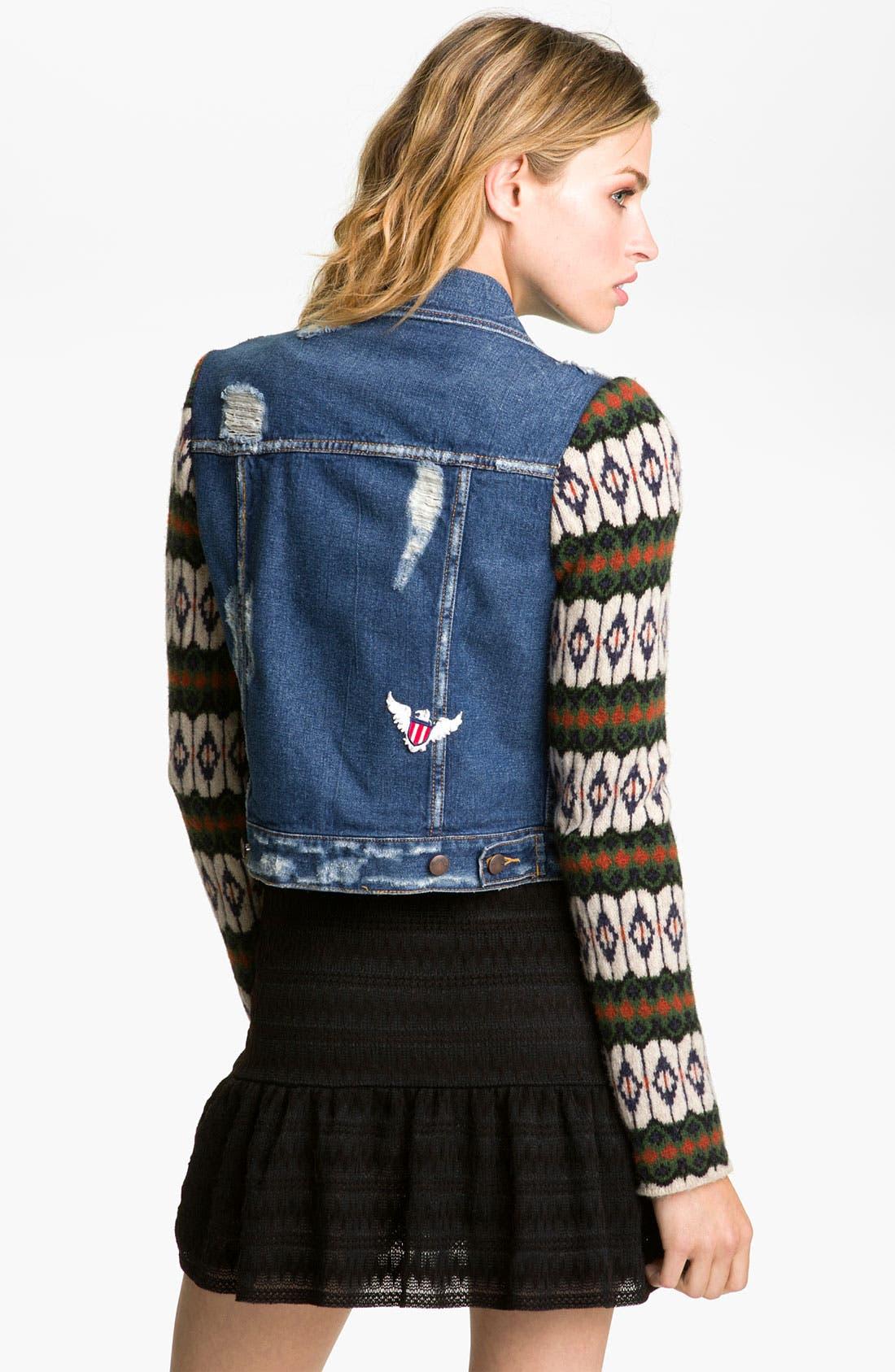 Alternate Image 2  - Free People 'Cypress' Sweater Sleeve Denim Jacket
