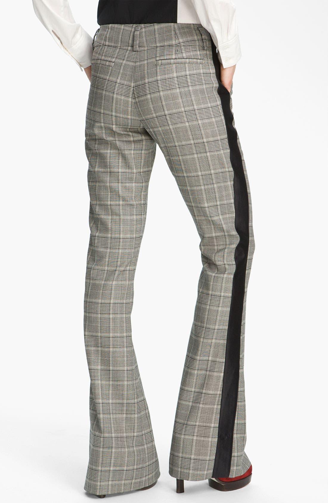 Alternate Image 2  - Derek Lam 10 Crosby Tuxedo Stripe Bootcut Pants