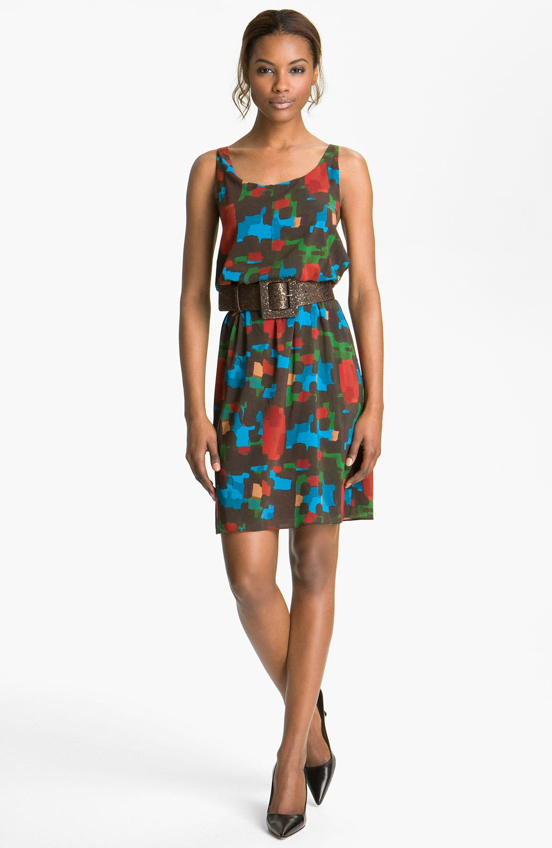 Main Image - Alice + Olivia 'Maritza' Belted Tank Dress