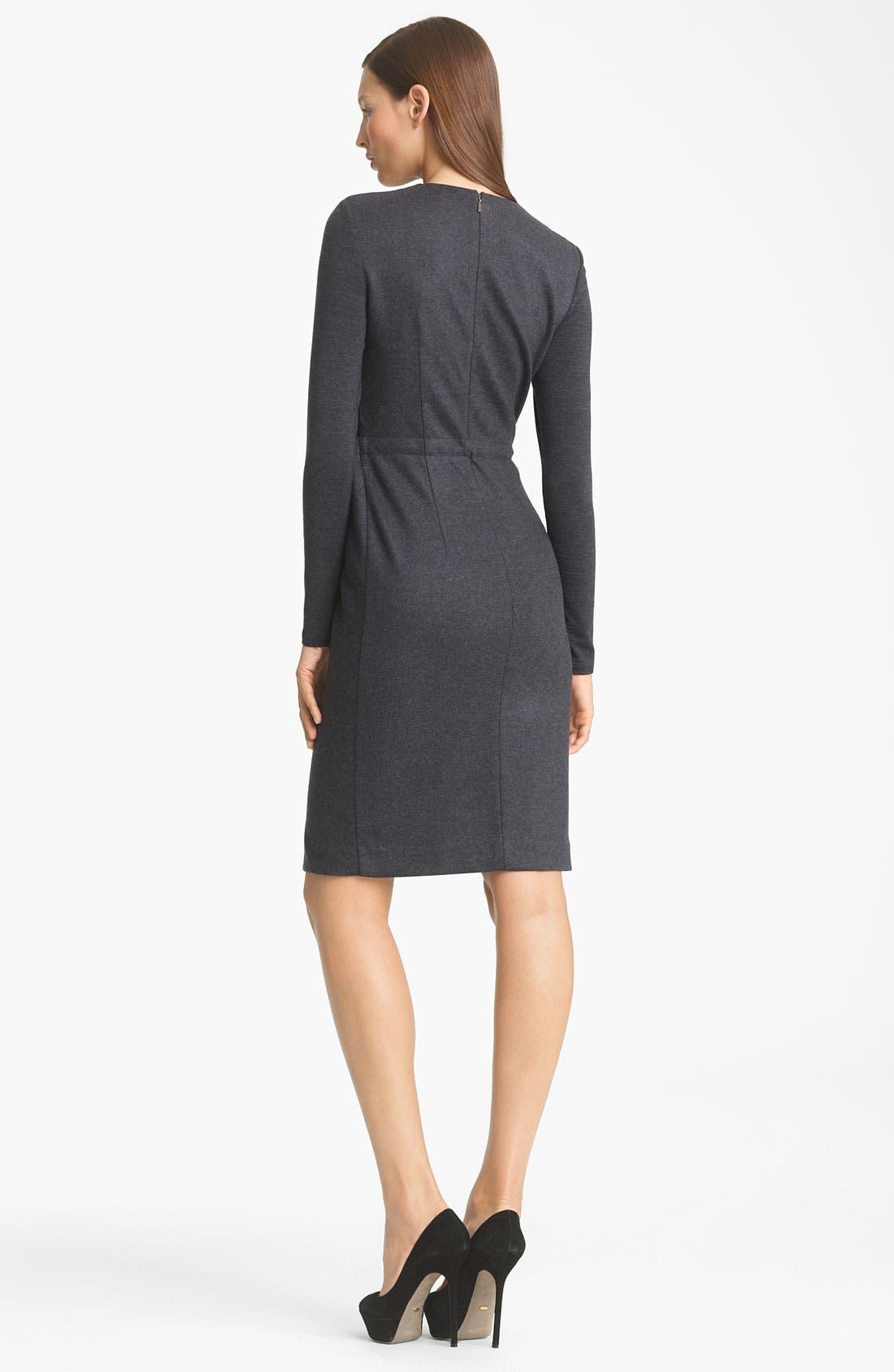 Alternate Image 2  - Max Mara 'Santos' Belted Wool Jersey Dress