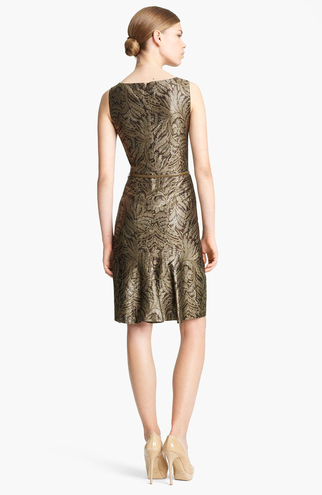 Alternate Image 2  - Max Mara 'Cera' Belted Floral Brocade Dress