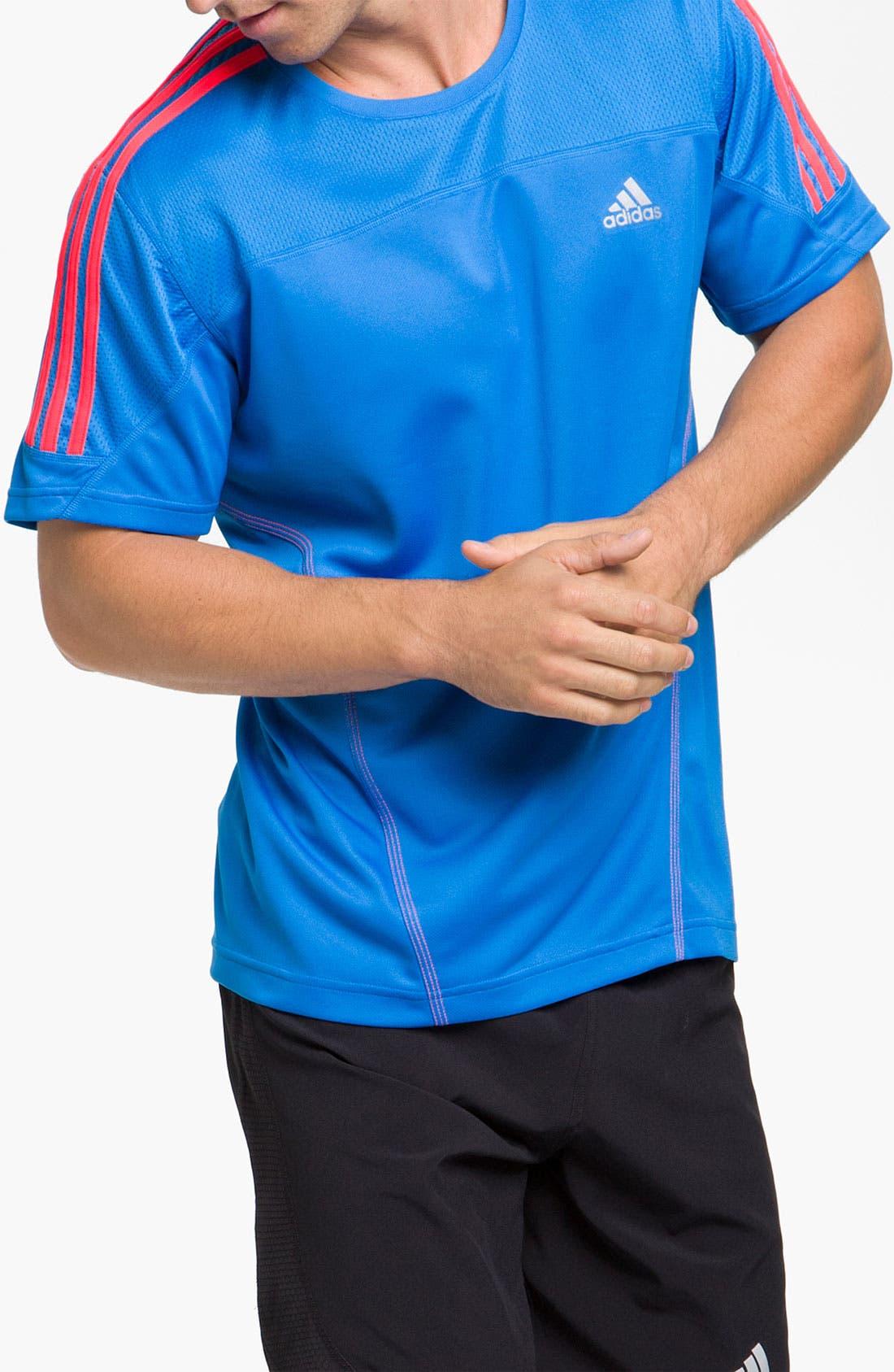 Main Image - adidas 'Response Drei Streifen' T-Shirt