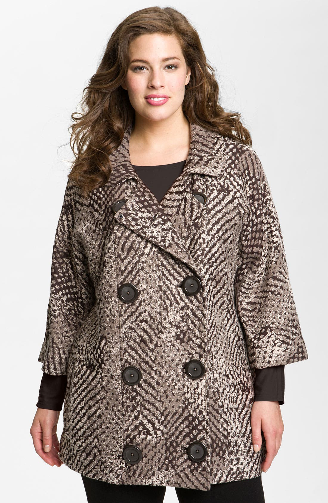 Alternate Image 1 Selected - Nic + Zoe 'Textured Dots' Knit Jacket (Plus)