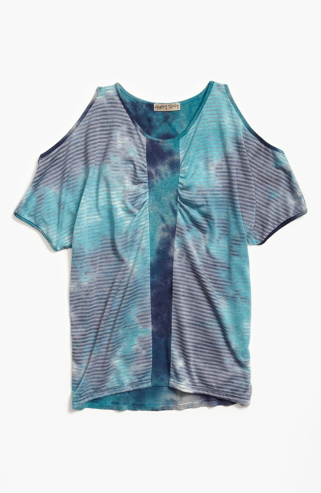 Alternate Image 1 Selected - Gypsy Daisy Tie Dye Top (Big Girls)