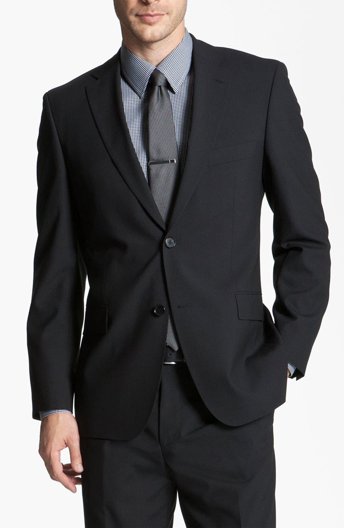 Alternate Image 1 Selected - BOSS Black 'Pasini/Movie' Wool Suit