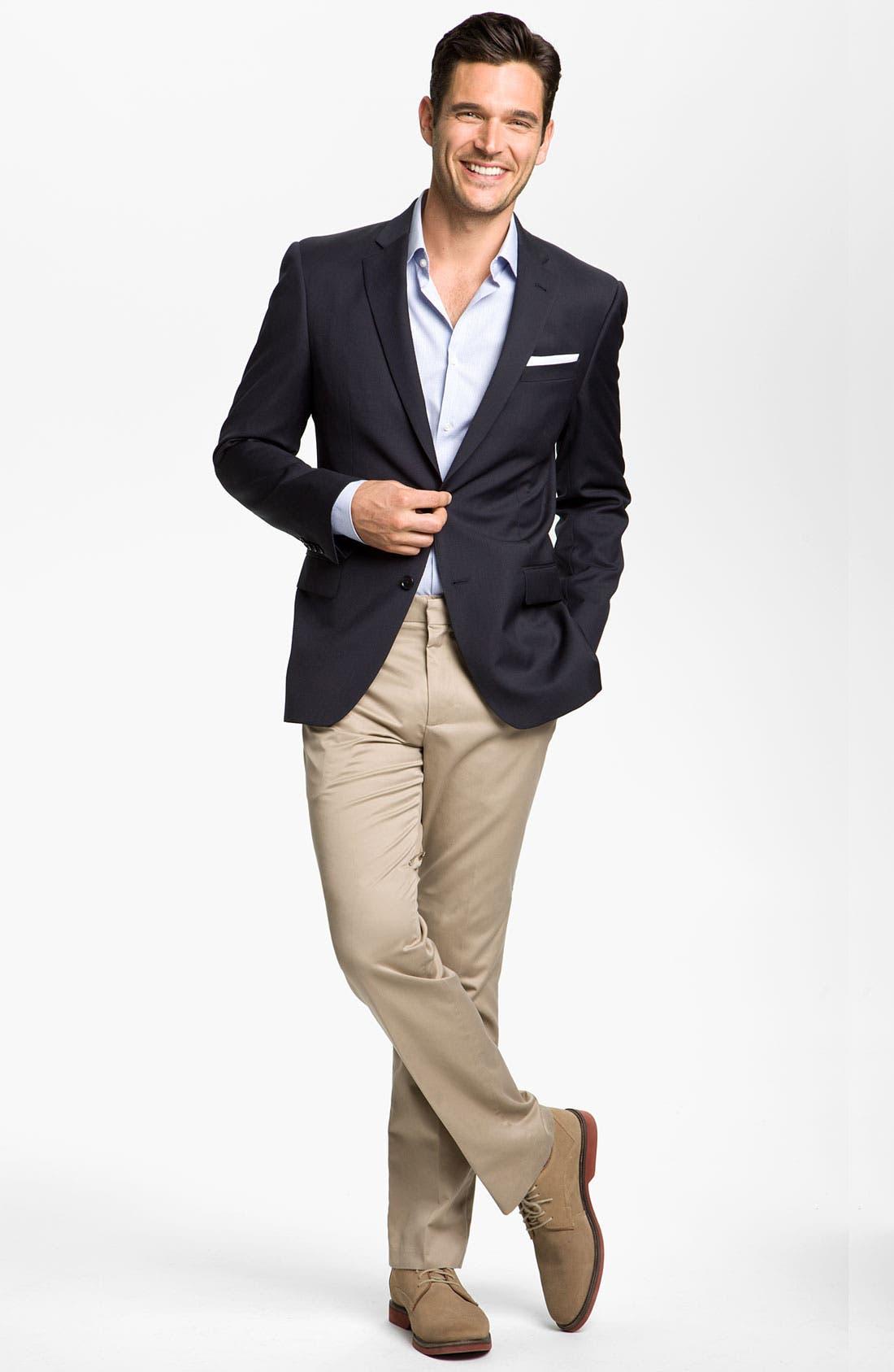Alternate Image 4  - John Varvatos Star USA 'Loft' Trim Fit Wool Jacket